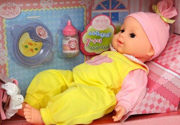喝奶綺妮娃娃~會哭會笑~會叫爸爸媽媽~還會打呼~超可愛~ST安全玩具~◎童心玩具1館◎