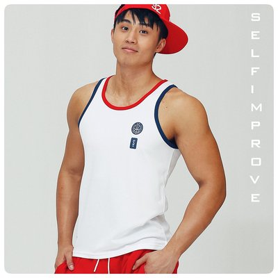 【OTOKO Men's Boutique】固制:新復古綜合運動背心/白色/正版(台灣獨家代理)