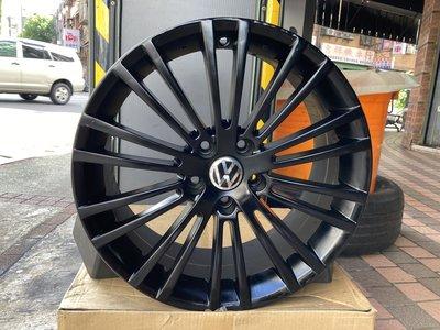 台制 五孔112 18吋鋁圈 福斯 VW Golf  Passat Tiguan Touran Caddy T4