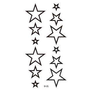 【萌古屋】原宿風中空星星 - 男女防水防汗原宿刺青貼紙TATTOO 紋身貼紙 D-21 台北市