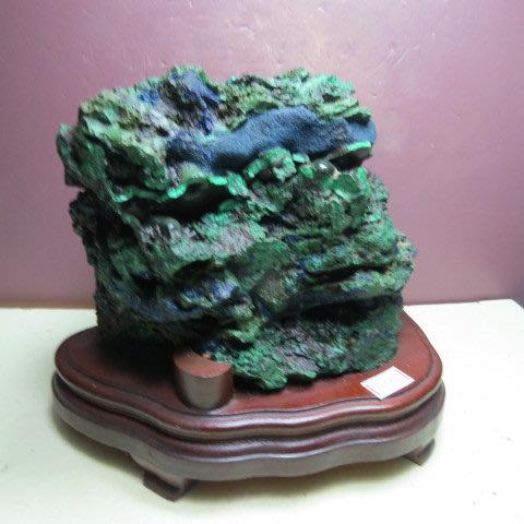 【競標網】漂亮純天然藍銅原礦3.65公斤(贈座)(網路特價品、原價5000元)限量一件