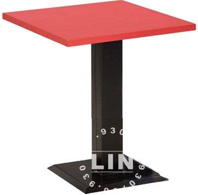 【品特優家具倉儲】R318-17餐桌洽談桌711B烤黑腳餐桌2尺