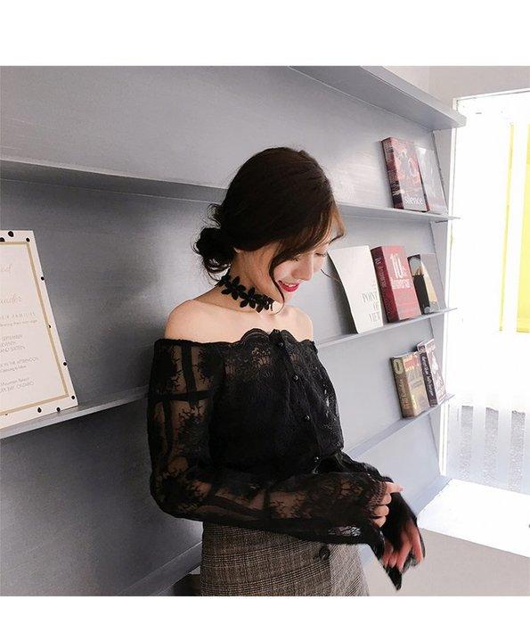 蕾絲花朵性感頸鍊 頸帶 鎖骨鏈 脖子飾品 項圈