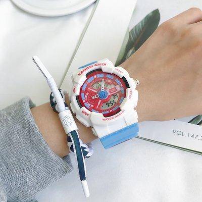手錶代購情侶手錶女ins風獨角獸初高中學生防水電子錶男簡約氣質潮流運動