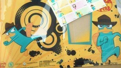 飛哥與小佛-鴨嘴獸泰瑞/正版授權姓名貼紙-彩色防水姓名貼紙3*1.3cm-附小資料夾.bb小舖/8折特賣中