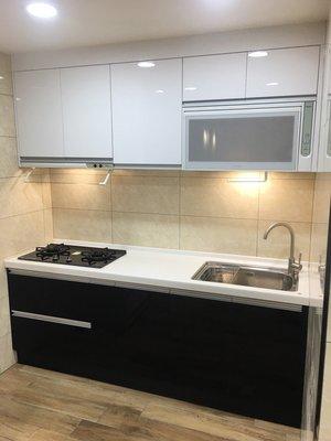 優惠活動在這裡!!廚具+櫻花三機~上下櫃210cm  *圲越系統廚櫃*