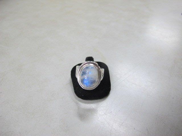 二手鋪 NO.3059 天然藍月光石 純銀925 戒指 復古款 超大顆 首飾飾品