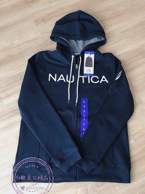 Yu歐美日精品~ 全新正品 Nautica 女款 薄刷毛連帽外套 L