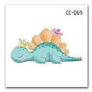 【萌古屋】恐龍單圖CC-069 - 防水紋身貼紙刺青貼紙K37
