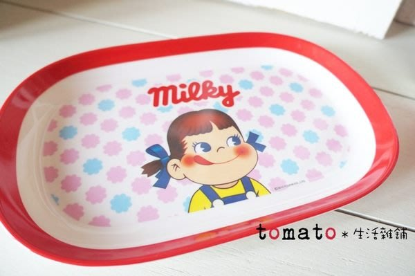 ˙TOMATO生活雜鋪˙日本進口雜貨Milky不二家牛奶妹長方形盤/碟