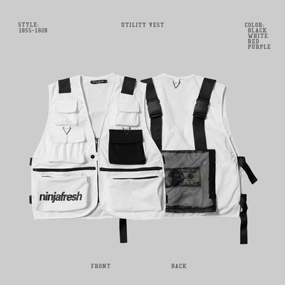 【Result】NFG 美金機能工裝多功能口袋戰術背心 馬甲 Hiphop