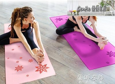 瑜伽鋪巾防滑瑜伽墊瑜伽毯印花布毛巾專業加厚瑜珈健身吸汗巾 【優優家居】