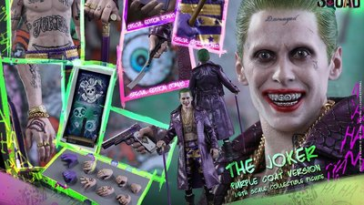 全新 Hot Toys MMS382 自殺特攻隊 小丑 Suicide Squad Joker Purple Coat 會場版