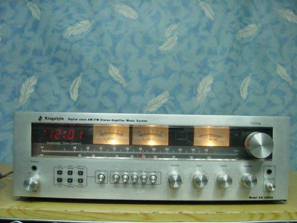 保固3個月【小劉二手家電】KINGSTYLE廣播擴大機,品相良好,KS-2200A型,燈都有亮,壞機可修理/回收!