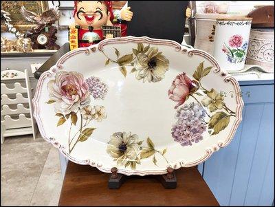 義大利CLS系列 陶瓷刷舊鄉村花卉圖案...