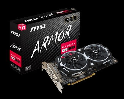 MSI RX580 ARMOR 8G 非礦卡 RMA整新品 保固到2020.11.20 台南善化可面交