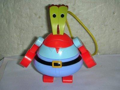 L集.(企業寶寶玩偶娃娃)少見2012年麥當勞發行海綿寶寶-蟹老板公仔吊飾!--值得收藏!