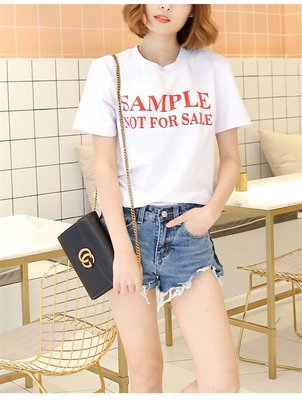 =EZZ=韓國首爾 時尚精品 東大門同步 早班車7211 纯棉字母印花寬鬆T恤  短袖圓領T恤