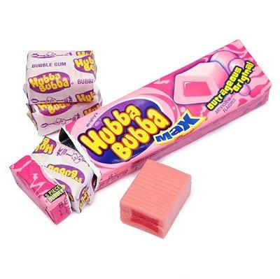 【山姆柑仔店】HUBBA BUBBA 口香糖 經典 原味 泡泡糖單條五顆飛壘包裝