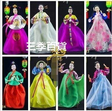 三季韓國人偶娃娃朝鮮族絹韓國家居裝飾禮品工藝品擺件❖590