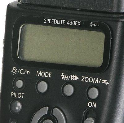 呈現攝影-GGS 金剛防爆玻璃保護貼(第二代)液晶螢幕 8H 6層 耐磨 耐刮 防撞擊Canon 430Ex※