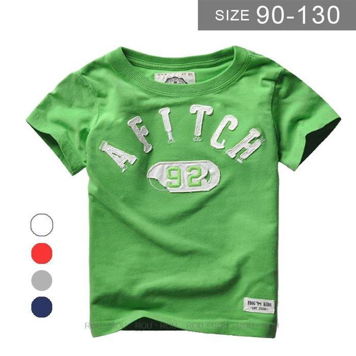 歐美男童短袖T恤。ROUROU童裝。夏男童中小童100%棉刺繡字母短袖T恤 0121-415