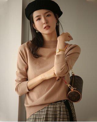 YOHO 現貨長袖上衣 (SDP6020) 實拍百搭經典寬鬆純色圓領針織衫