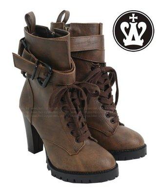 =WHITY=韓國GRAMMI品牌 韓國製 超顯瘦長腿韓妹必備高粗跟靴短潮靴 超強明星正品 專櫃 S4HJ727