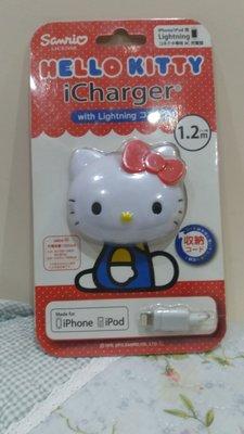 《東京家族》Kitty大頭 iphone 充電器/充電線
