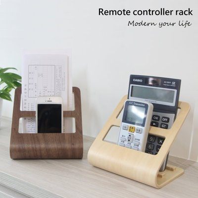 遙控架收納架 收納架 手機架 置物架 DM架 帳單收納 木質創意多功能架 日本限量同步熱銷