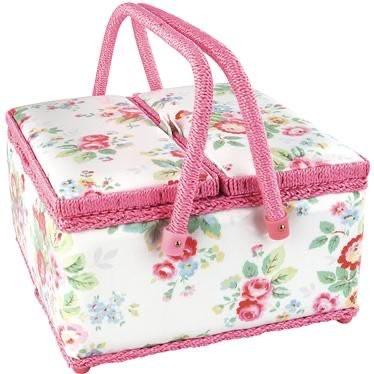 Cath Kidston Twin Lidded Sewing Basket Trailing Floral (針線盒)