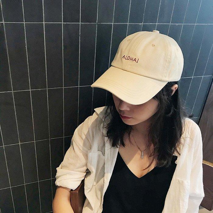 男女款chic帽子女夏天韓版棒球帽個性軟頂復古字母鴨舌帽情侶遮陽帽男潮