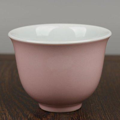 ㊣姥姥的寶藏㊣上海市博物館一九六二年款粉紅釉杯古玩古董老貨舊貨民間收藏