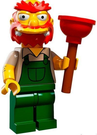 現貨【LEGO 樂高】益智玩具 積木/ Minifigures人偶系列:辛普森2代人偶包 校管+通樂 71009 無袋紙