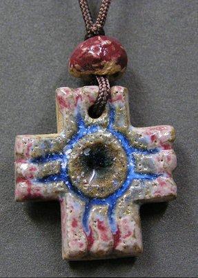 豬豬姨~手工陶土項鍊~:十字架陶土項鍊~陶土項鍊~