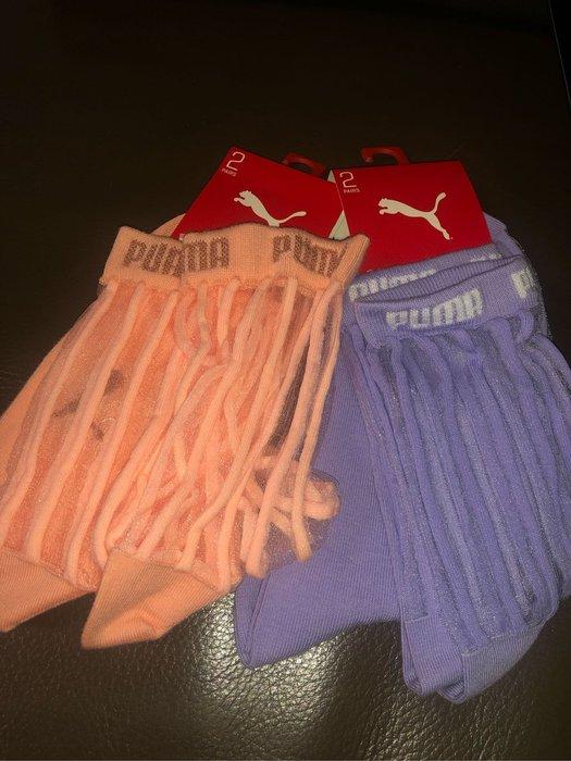 國外帶回超美PUMA透明襪,一組兩雙EU35-38有兩色可選