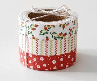 *YOOWOO*C【韓國空運 Decorate YOUR item 花舞精靈 棉布質 15mm 膠帶貼紙~ Strawberry 草莓】一組3入