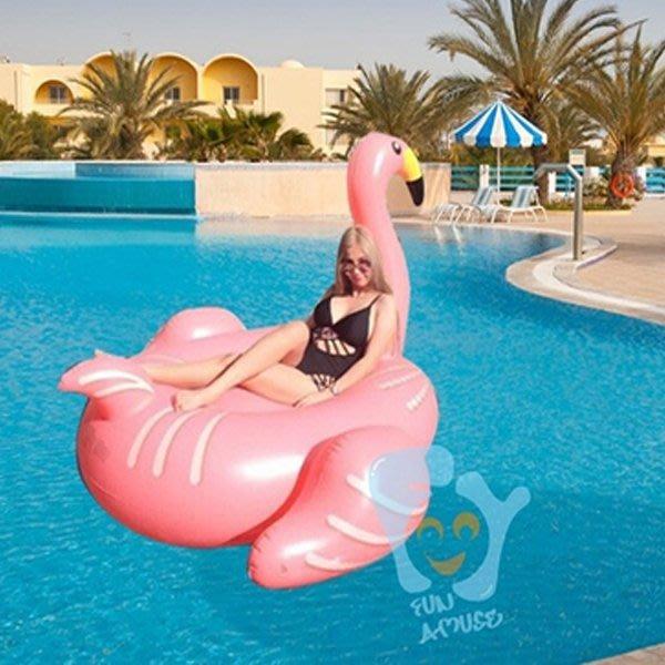 5Cgo【批發】含稅會員有優惠 521149734685 進口特大成人水上充氣遊泳池水上充氣床火烈鳥浮排坐騎水上充氣座椅