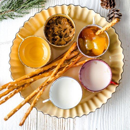 琺瑯日式波浪邊搪瓷點心碟 超美 蛋糕盤 甜點碟 點心 甜點 早餐盤 創意 美食攝影 歐式 美食部落客 小碟子