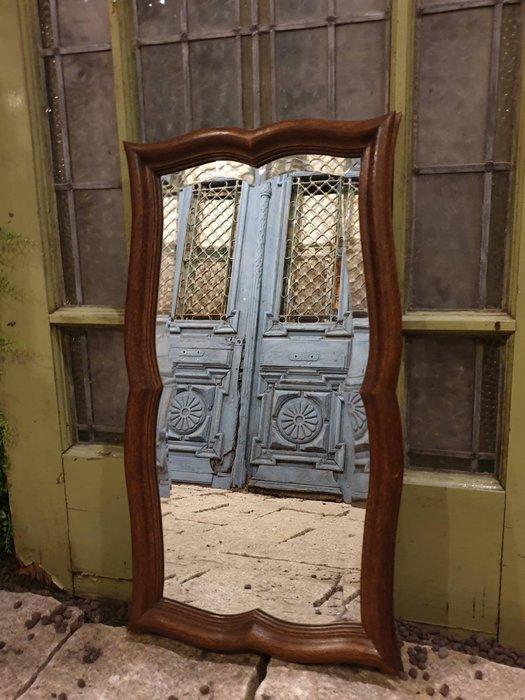 【卡卡頌  歐洲古董】🌷法國老件 橡木 立體 雙層 多角度雕刻 實木 掛鏡 古董鏡 (可橫或直掛) MI0074 ✬