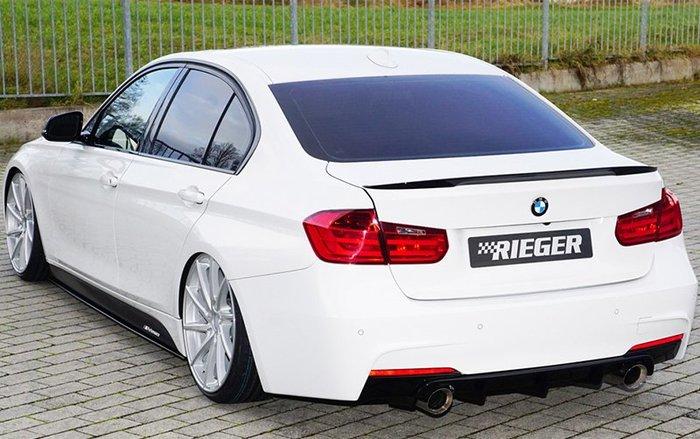 【樂駒】RIEGER BMW F30 F31 LCI rear skirt insert 後下巴 雙邊單出 素材 需烤漆