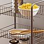 千禧禧居~歐潤哲北歐簡約多層可移動廚房浴室家用落地蔬菜水果收納籃置物架