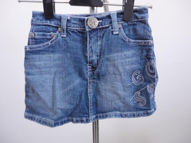 99元起標CUESS~女童牛仔短裙~藍色~SIZE:F
