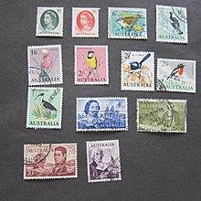 【雲品】澳大利亞Australia 1963 Sc 365-74,376-78 FU