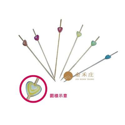【金禾庄包裝材料】彩心竹籤 100支 ...