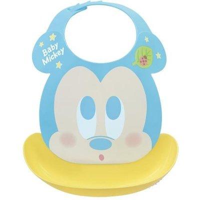 尼德斯Nydus 日本正版 迪士尼 嬰兒用品 寶寶圍兜 口袋圍兜 立體 防水 米奇 Mickey 日本製