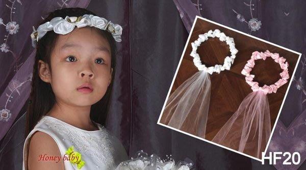 HoneyBaby~HF-20~法式浪漫婚禮小花童~頭花.頭飾 ~婚禮~髮飾。白色.粉紅色