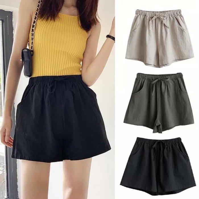 貓姐的團購中心~R0123 日系棉麻休閒短褲~9種顏色~S-XL兩件一組~一組390元~預購款