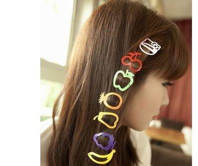 髮飾批發 超Q水果造型糖果色髮夾/瀏海...