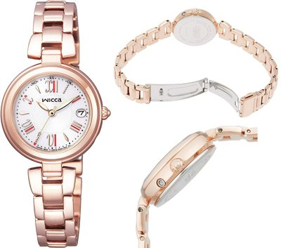 日本正版 CITIZEN 星辰 wicca KL0-669-11 電波錶 手錶 女錶 太陽能充電 日本代購